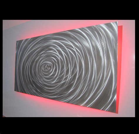 led lighting for artwork vortex single panel led light metalistik