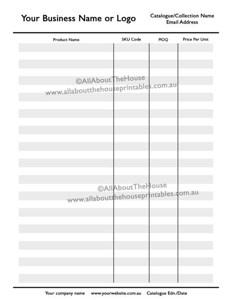 how to make a product catalogue line sheet for your