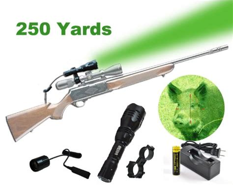 can hogs see green light h25 g 250 yard green rechargeable led hog
