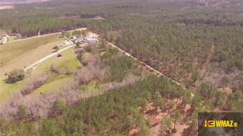 tara grinstead search drone video captures scene on grinstead remains drone footage 13wmaz com