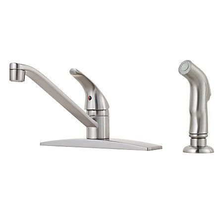 shop pfister pfirst series stainless steel 1 handle pull stainless steel pfirst series 1 handle kitchen faucet