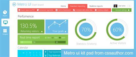 layout metro ui beautiful metro style dashboard ui kit psd for free