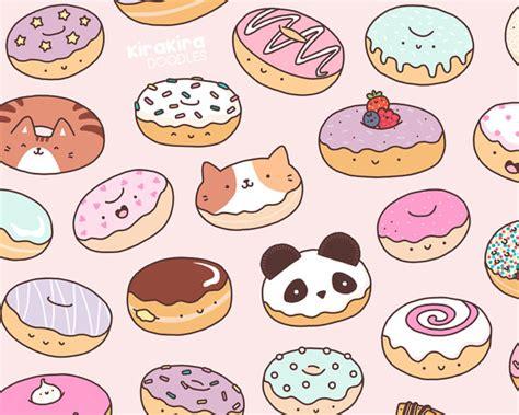 doodlebug donuts mmm donuts kawaii donut doodle print by