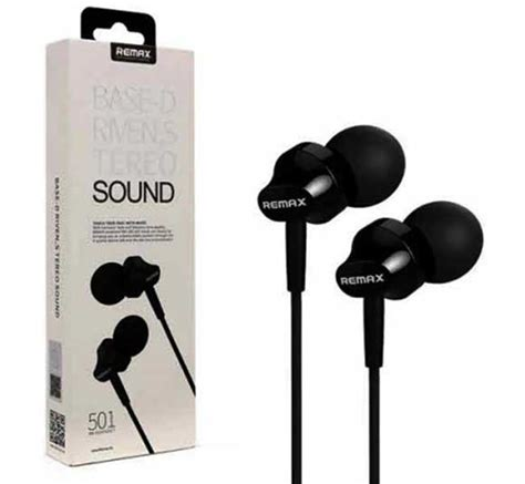 Remax Earphone With Microphone Rm 501 remax rm 501 in ear stereo earphone headphone with mic for smartphone1 dunia bd