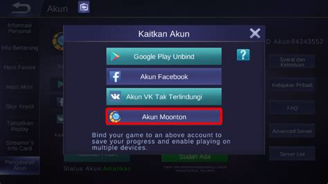 membuat akun moonton mobile legend cara membuat akun moonton di mobile legends espada blog