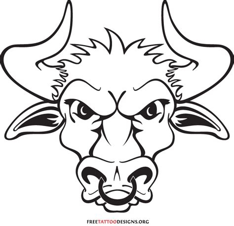bull head tattoo bull 50 taurus tattoos