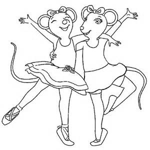 angelina the ballerina coloring page angelina the