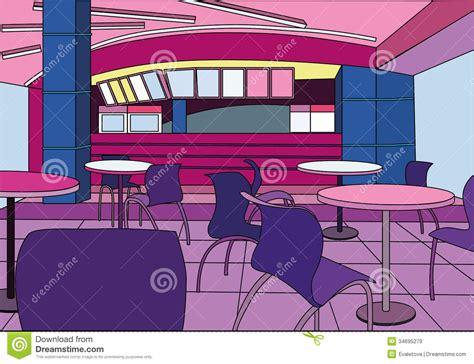 cafe interior design vector modern cafe interior stock illustration illustration of