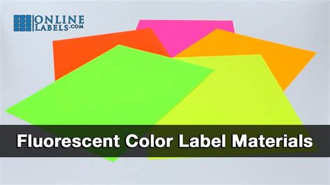fluorescent color fluorescent color labels see features and uses