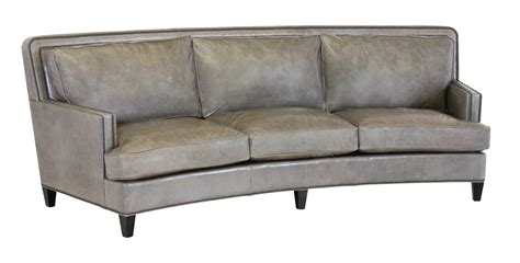 curved leather couch classic leather palermo 112 curved sofa 8553