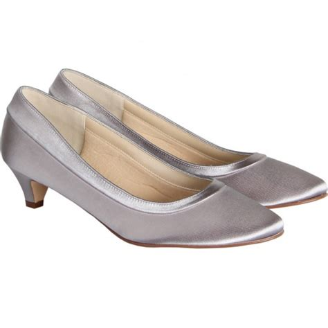 Wedding Shoes Low Heel Ivory by Bea By Rainbow Club Dyeable Ivory Satin Low Heel Wedding