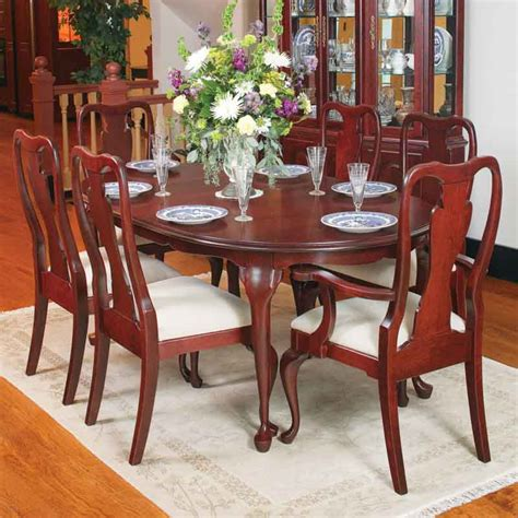 cherry wood dining room table 96 solid oak amp cherry furniture queen anne dining