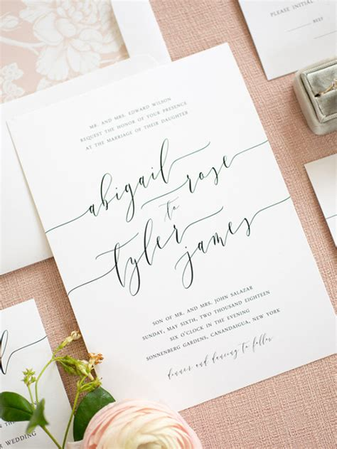 Simple Wedding Invitations by Clean Simple Wedding Invitations From Shine