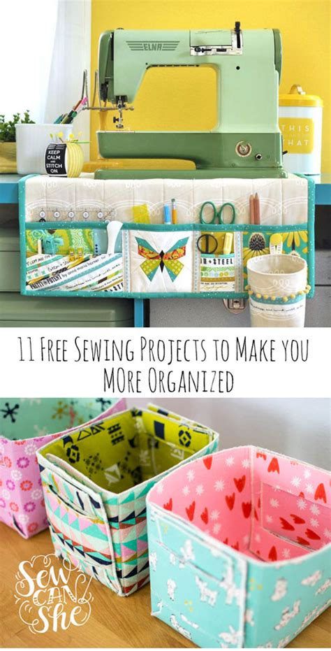 11 free sewing projects to make you more organized