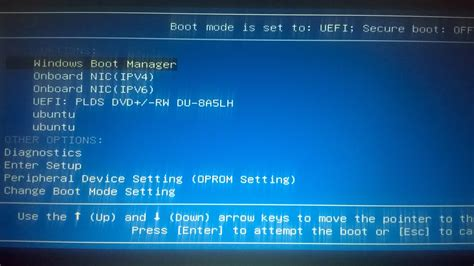 partitioning cannot get into bios or boot from disk on boot how to remove ubuntu option from os selection