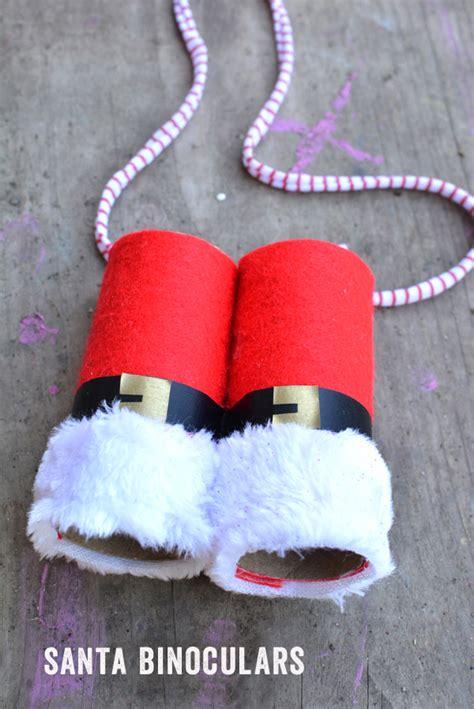 santa crafts santa binoculars crafts