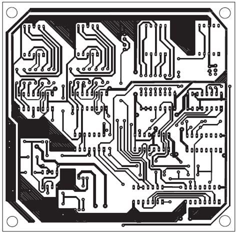 layout pcb bel rumah rangkaian jam digital led dengan bel 187 skemaku com