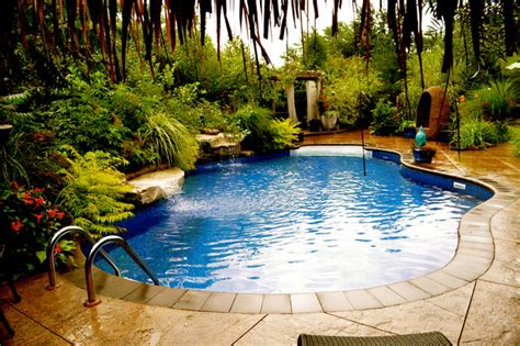 Garden Design Tropical Pool Toronto By Beenu Pool Garden Design
