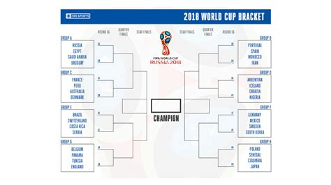 world cup 2018 bracket printable world cup bracket make your russia 2018
