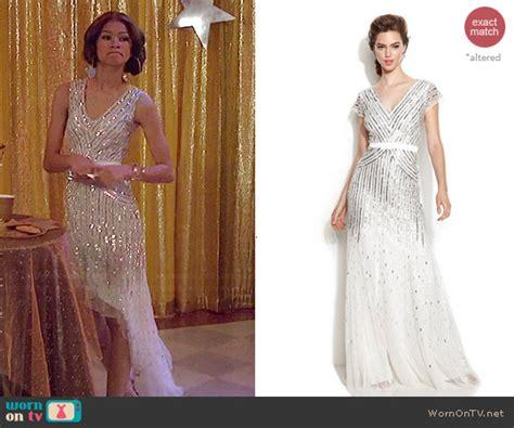 wornontv kc s white sequinned asymmetric dress on kc