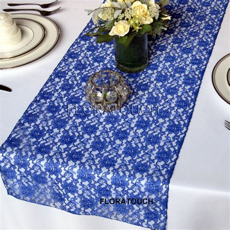 blue table runner royal blue lace wedding table runner