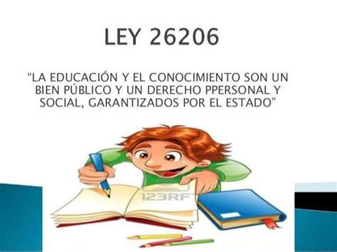 ley 14 ministerio de gobierno ley de educacion nacional 26206