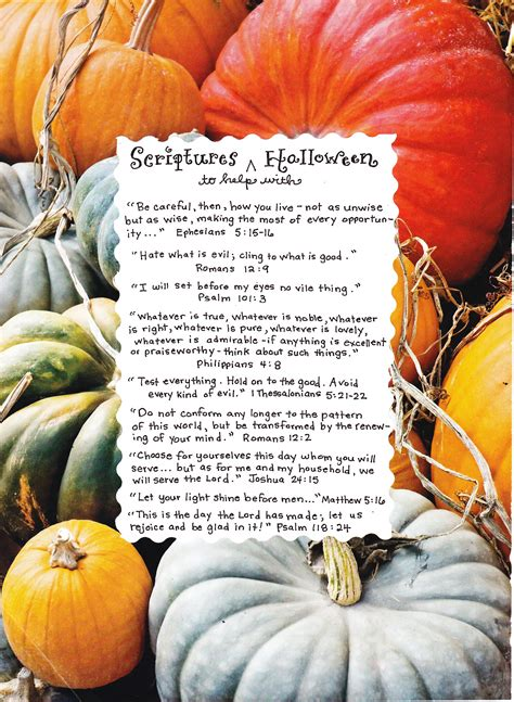 Free Halloween Printables Decorations - scriptures for halloween happy home fairy
