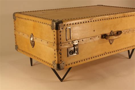 Antique Parchment Suitcase Coffee Table At 1stdibs Suitcase Coffee Table