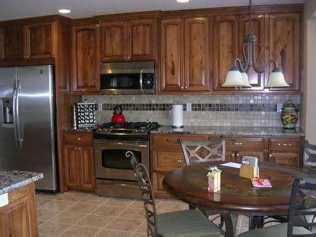 Knotty Hickory Cabinets Kitchen by Hickory Kitchen Cabinets Pictures Knotty Hickory Kitchen