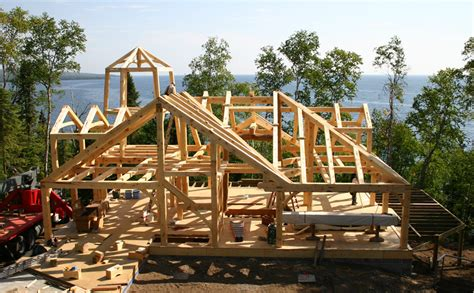 timber frame house plans cottage custom timber frame home design construction minnesota great northern woodworks