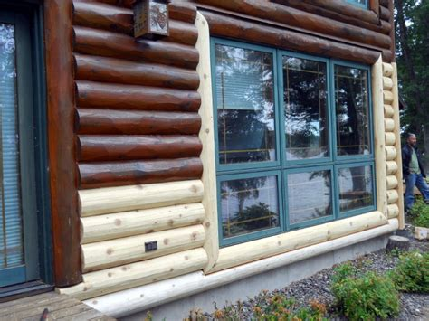 log siding replacement log replacement services l wi mn edmunds and company