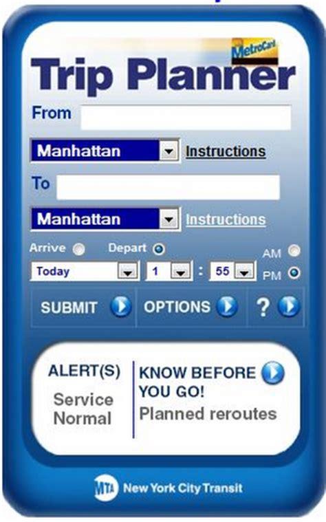 mta trip planner mobile plan your metro trip subway application