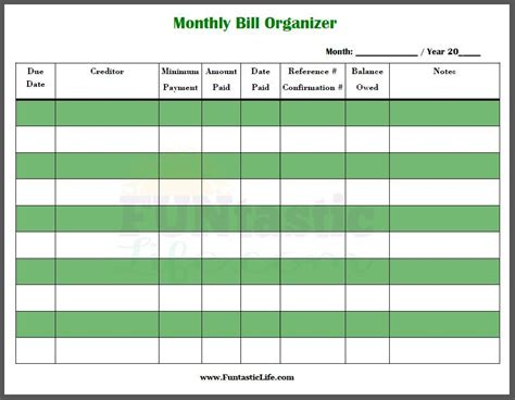 printable bill paying checklist new chart free printable bill