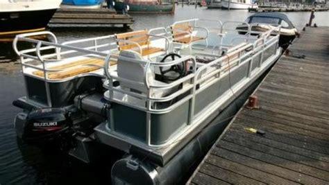 aluminium visboot bouwpakket pontonboot terrasboot rolstoelboot casco pontonboot
