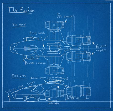 design a blueprint spaceship blueprint the faolan by harveygall on deviantart