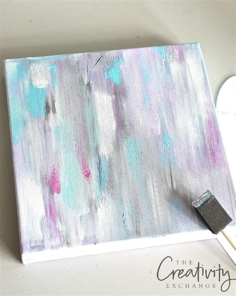 acrylic paint diy diy abstract painting and a paint
