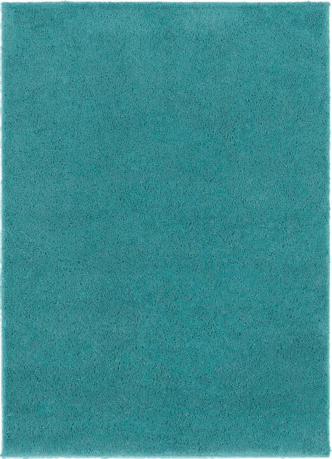 Teal Colored Area Rugs Sphinx Teal Monochromatic Shag Single Color Contemporary Area Rug Solid 84300