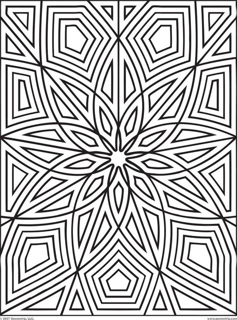 geometric coloring books 25 best geometric coloring patterns images on