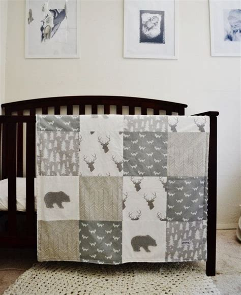 Outdoor Themed Crib Bedding Crib Sheet Gray And White Tree Print