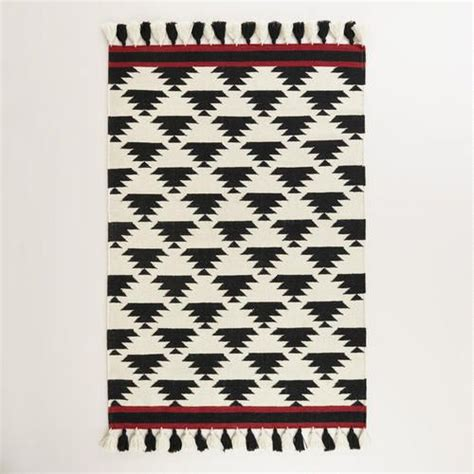 cost plus world market rugs black and white kaia flatweave wool area rug from cost plus world market s new desert caravan