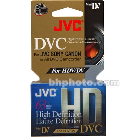 hdv cassette jvc m dv63hd hdv cassette 63 minutes mdv63hdht b h photo