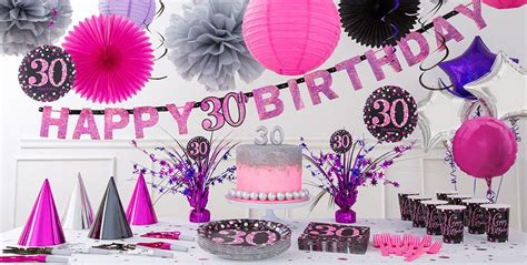 Pink Sparkling Celebration 30th Birthday Party Supplies   Party City
