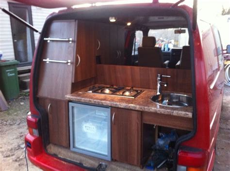 volkswagen van interior ideas clever rear kitchen photos and build thread 0 van