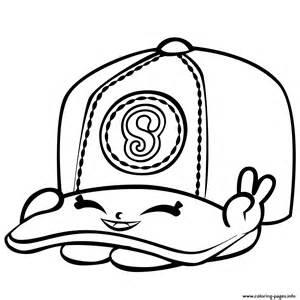Baseball Casper Cap Shopkins Season 3 Coloring Pages Printable sketch template
