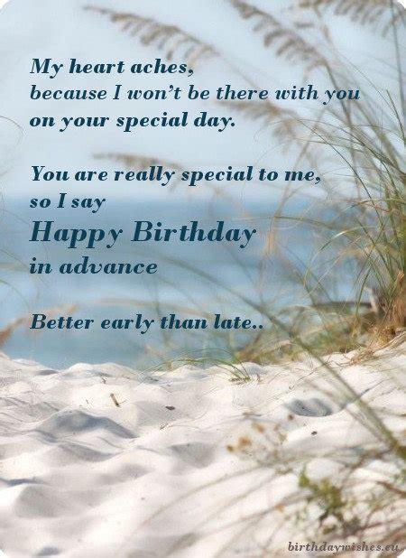 happy birthday  advance top  early birthday wishes