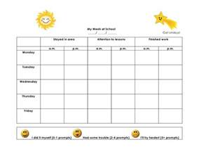 Smiley Behavior Chart Template by Smiley Behavior Chart Template Search Results