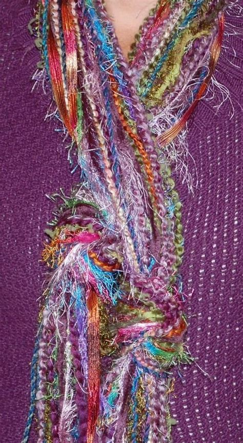 these yarn no sew scarves my style