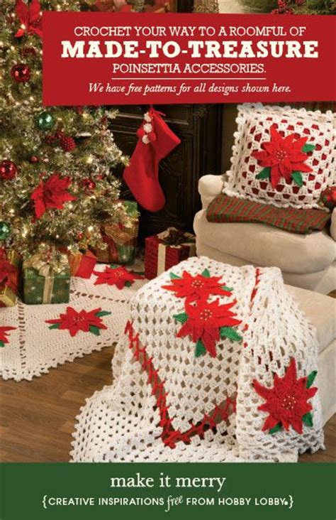 hobby lobby project make it merry crochet pillows
