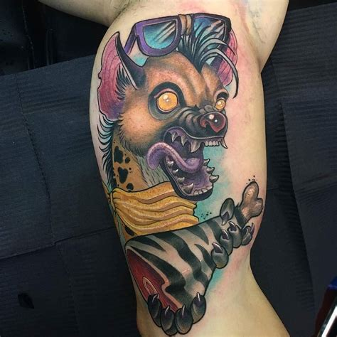 hyena tattoo hyena by jotapaint at gypsygardentattoo in