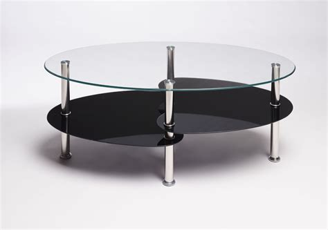 Black Glass Coffee Tables Uk Black Clear Oval Glass And Steel Cara Coffee Table